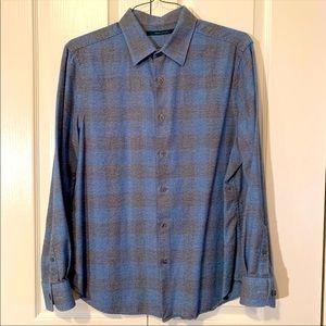 NWOT Perry Ellis  Plaid Long sleeve Shirt